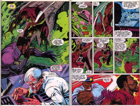 Luke Cage has his powers enhanced in Cage #7, Story by Marcus McLaurin, art by Dwayne Turner