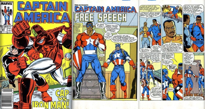 The debut of the Battlestar costume and name from Captain America #341