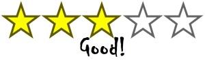 stars- 3 good