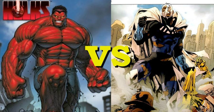 red hulk vs blue marvel worldofblackheroes