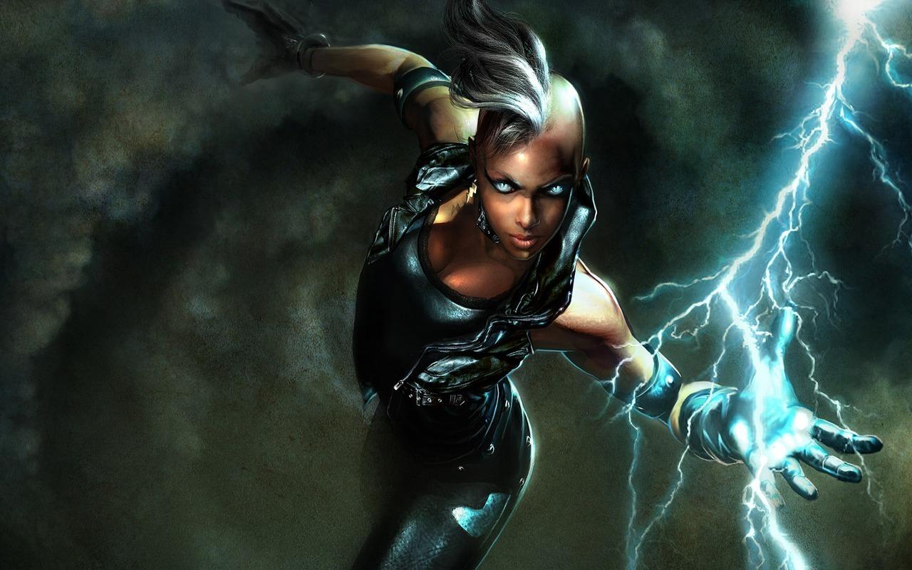 Female superhero wallpaper