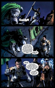 Shuri warns Doom from Doomwar #6, story by Jonothan Maberry