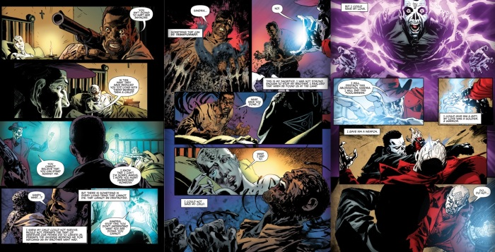 The Shadowman line is born, from Shadowman #10, story by Justin Jordan